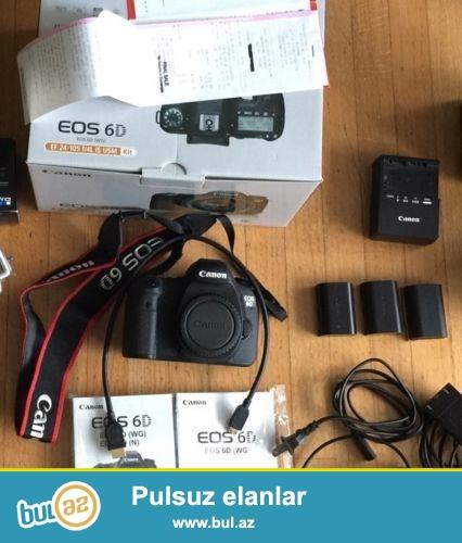 Canon EOS 6D 20.2 MP Digital SLR Camera.<br /> <br /> istifadəçi kitabçası:<br /> <br /> Brand Canon<br /> Model EOS 6D<br /> Əsas Xüsusiyyətlər<br /> Camera növü Digital SLR<br /> <br />  Aşağıdakı məlumatları ilə əlaqə saxlaya bilərsiniz:<br /> <br /> Gmail: salesmarket27@gmail...