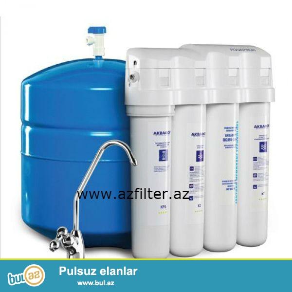 AQUAPHOR CRISTALL OSMO əks osmos sistemli filteri mətbəxinizdə sizə 100 % təmizlənmiş su ilə təmin edir...
