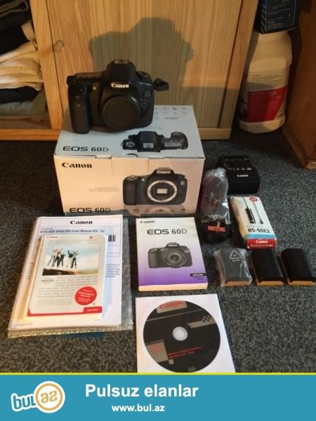 Canon EOS 60D Kamera 18 MP Full HD + 3 akkumulyatorlar...