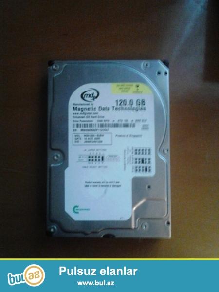 Stolustu komputer ucun 120 gb IDE hard disk satilir.Qiymet sondur