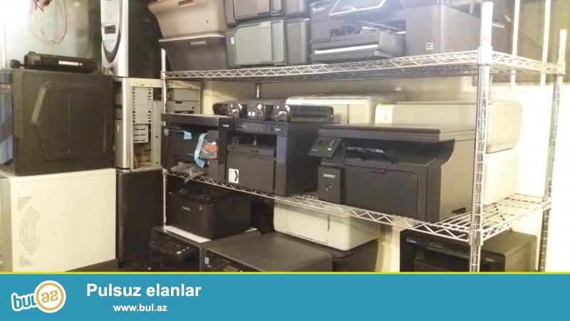 Cox az islenmis ve yeni printerlerimiz var mektebler obyektler ofisler ucun her birinin qarantisi olmaqla 140 manatdan baslayaraq her cur lazer printerler satiriiq