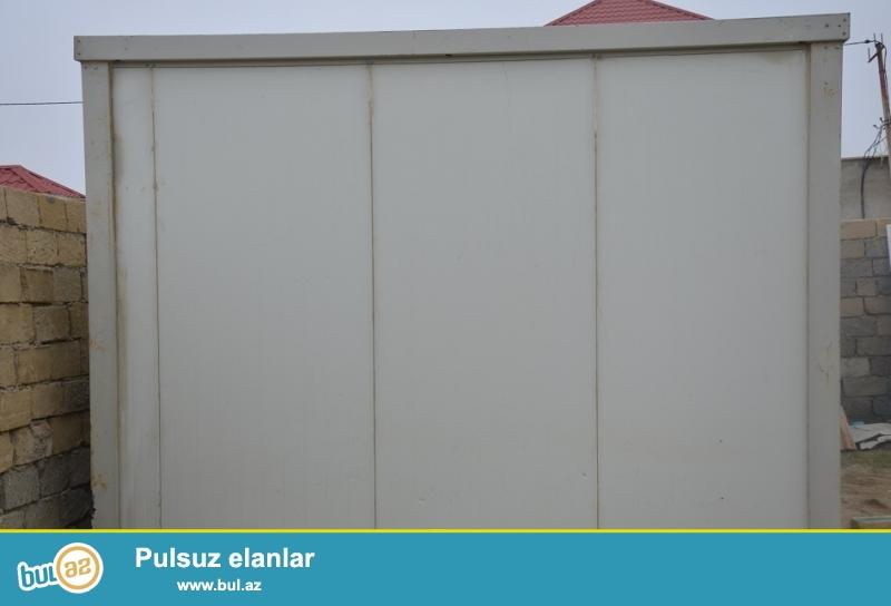 Konteyner SATILIR və İCARƏYƏ verilir. <br /> Uzunu 3m 70sm <br /> Eni 2m 70sm<br /> <br /> 1) Türkiyə istehsali 6-lıq sendvic panelden...