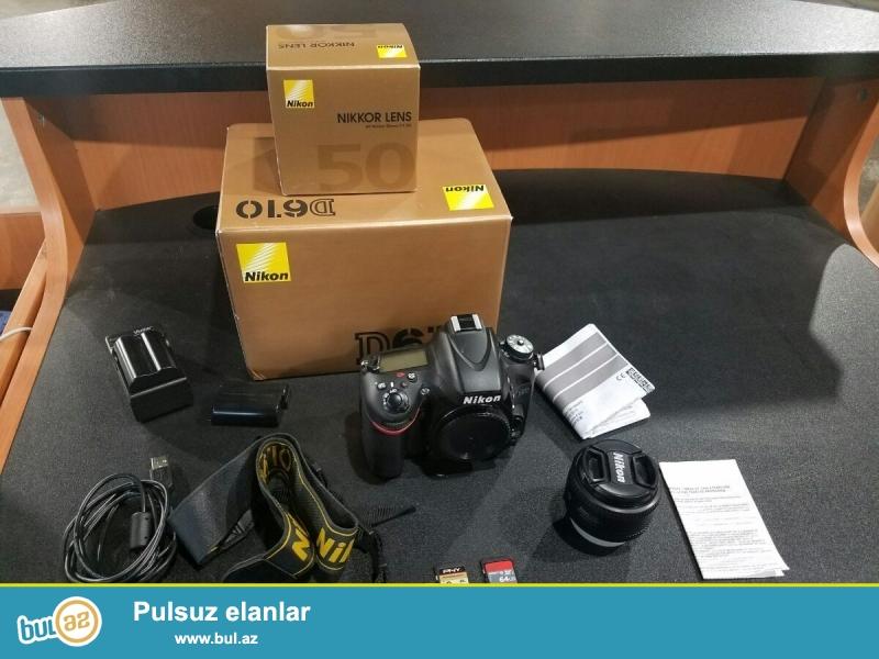 Nikon D D610 24.3MP Digital SLR Camera.<br /> <br /> istifadəçi kitabçası:<br /> <br /> Brand Nikon<br /> Model D610<br /> Əsas Xüsusiyyətlər<br /> Camera növü Digital SLR<br /> Sensor Resolution 24...