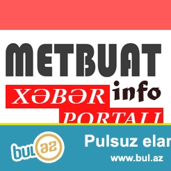 METBUAT.info Xəbər Portalı SATILIR<br /> <br /> Sayta məxsus olan bölmələr ilə birlikdə...