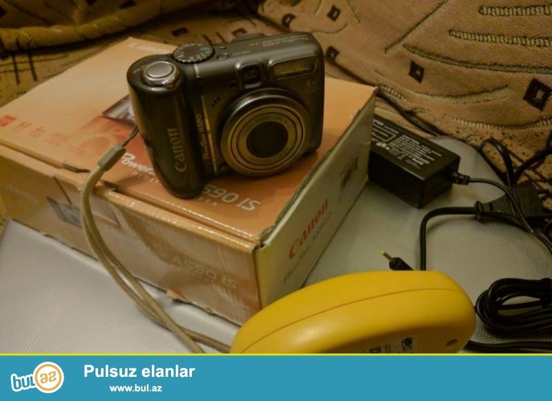 Canon Powershot A590 IS - teze kimi, az islenilib.<br /> 2 GB kart verilir ustunde...