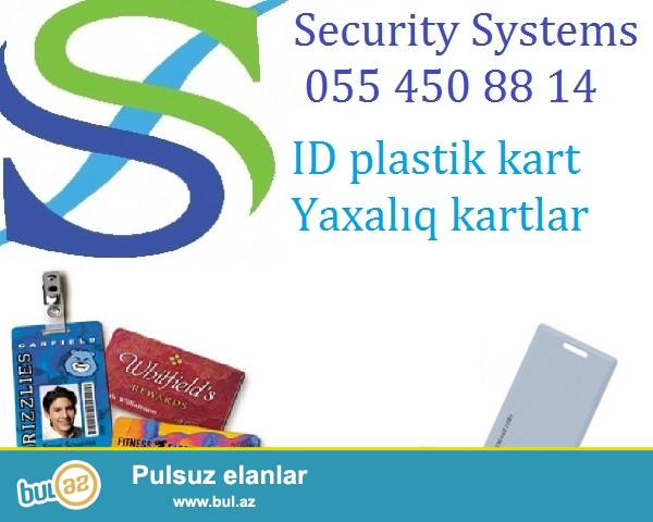 ID plastic kartlar 0554508814<br /> Biometrik sistemler, yaxaliq ucun istifade olunan ID kartlar satilir...