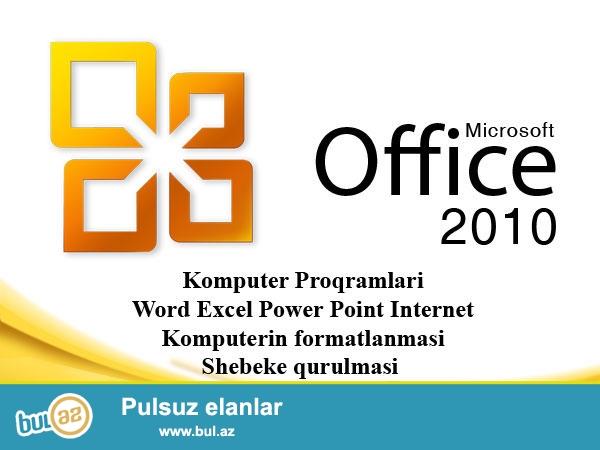 Ofis proqramları Komputer kursu 20 AZN individual şəkildə dərslər tədris olunur...