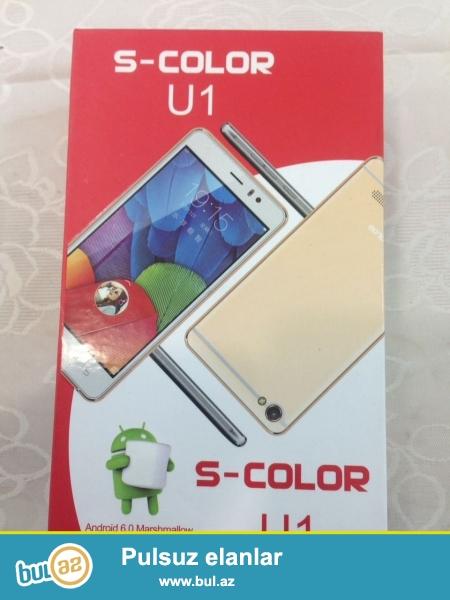 S Color U1 telefonu satilir, Samsung kateqoriyasindan!Telefonlar Pakofkada yenidir, her rengi var, problemsizdir...