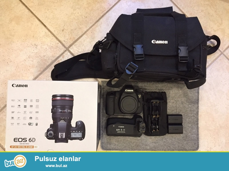 Canon EOS 6D 20.2 MP DSLR.<br /> <br /> istifadəçi kitabçası:<br /> <br /> Brand Canon<br /> Model 6D<br /> Əsas Xüsusiyyətlər<br /> Camera növü Digital SLR<br /> Sensor Resolution 20...