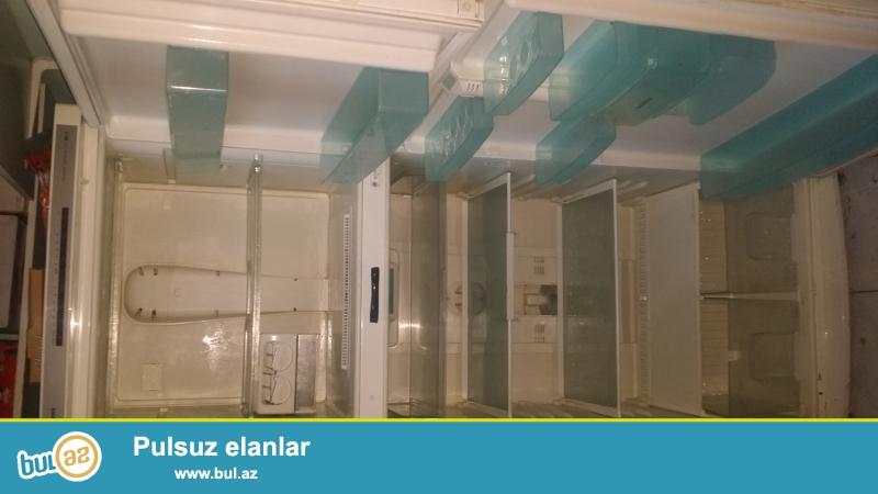 """""""Siemens"""" soyuducu satılır. Hündürlüyü 1.95 sm eni 0.80 sm. No frost və anti bakterialdır..."""