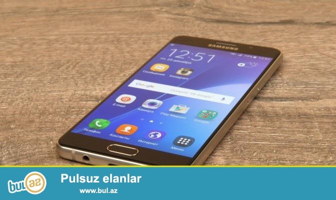 Salam aleykum. <br /> Galaxy A7 Gold 2016 <br /> ay yarımın Telefon <br /> Samsung işlədə bilmədiyim üçün satıram <br /> Telefonda noqtə qədər czıq yoxdur <br /> Her şeyi var Real insanlar elaqə saxlasın <br /> Barter mumkundur Apple 5s ustde Pull / 6 /6s <br /> Whatsapp var