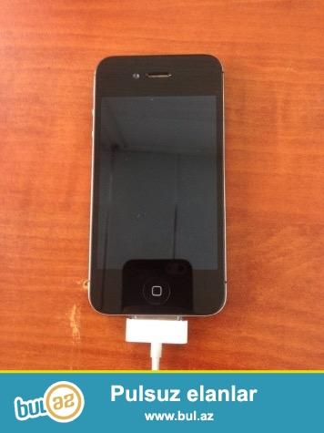 Iphone 4 s 16 gb original adapter karobka eziyi cizigi yoxdu saz veziyyetde tecili satilir