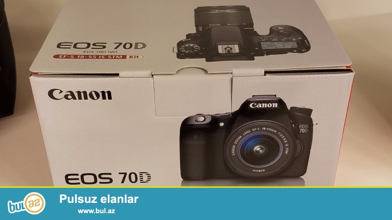Canon EOS 70D 20.2 MP Digital SLR Camera - Qara (/ EF-S 18-55mm w Kit STM edir...