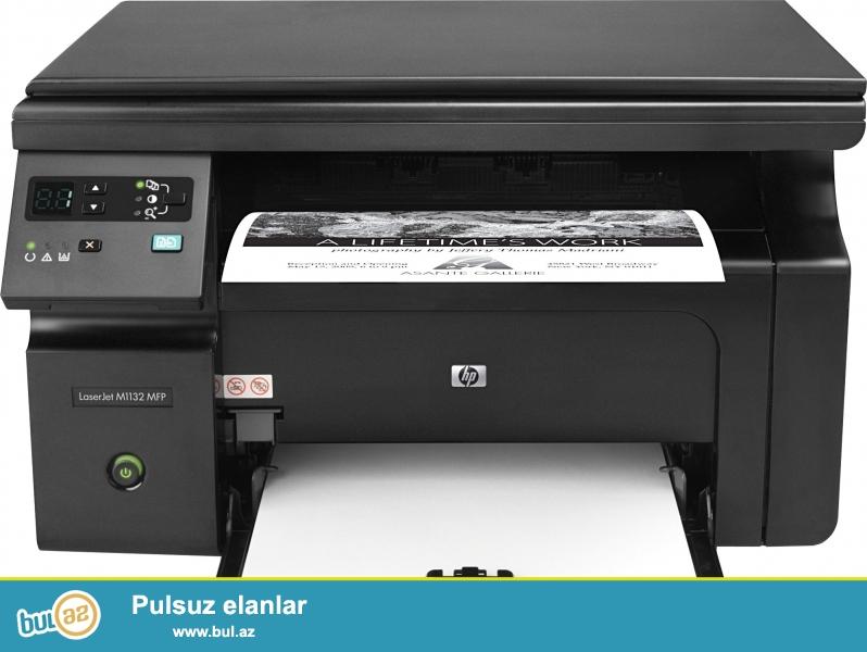 HP M1132 Printer Skaner Kserokopiya aparati islek veziyyetdedir...