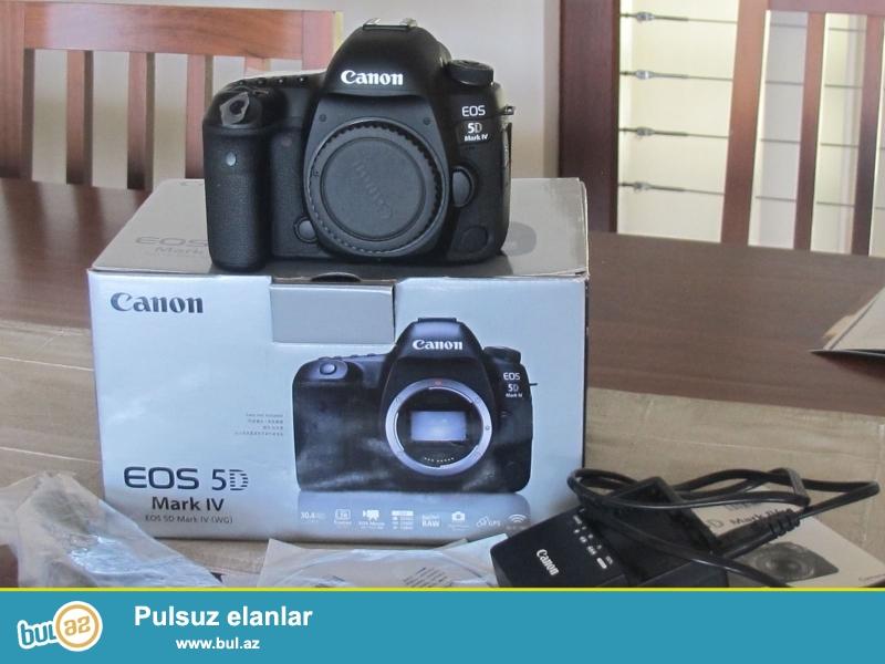 Canon EOS 5D Mark IV 30.4 MP Digital SLR Camera.<br /> <br /> istifadəçi kitabçası:<br /> <br /> Brand Canon<br /> Model 5D Mark IV<br /> Əsas Xüsusiyyətlər<br /> Camera növü Digital SLR<br /> Resolution 30...