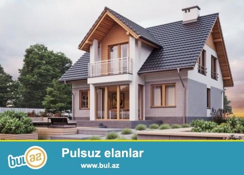 1 mərtəbəli mansard tipli , 130 kv, 5 otaqlı ev...