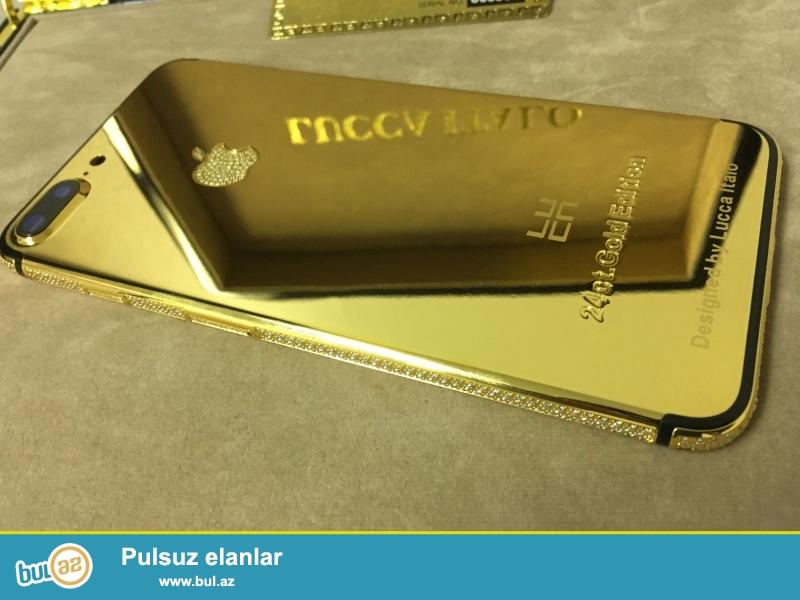 <br /> Bu 24ct Qızıl (real Gold) edir<br /> Iphone 7 Plus 256GB 5...