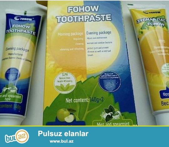Diş pastası :<br /> *Köklü şəkildə ağız boşluğunu  sadə parazitlərdən təmizləyir...