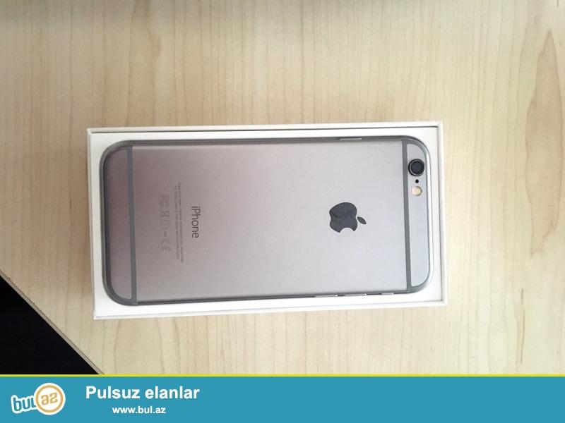Model Iphone 6<br /> Yaddas 64GB<br /> Reng Boz<br /> hecbir problemi yoxdur qutusu adapteri nausniki hamsi var ve orginaldi...