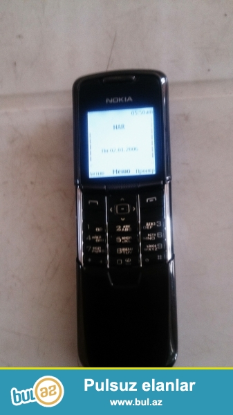 Nokia 8800 satram öz telefonumdur heç bir problemi  yoxdur usdada olmayıb sekildekidir riyal alci üçün endirim olacaq
