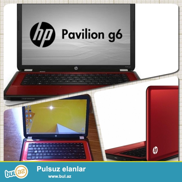 HP-Pavilion G6<br /> Pro:i3 2330M 2.2GHz<br /> Ram:4GB<br /> Vga:1GB Intel<br /> Screen:15...