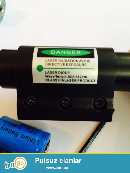 50 -azn silah ucun yasil lazer hem snurlu hem adi istifade ucun arxaliq deste daxildir.0