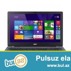 UCUZ qiymətə Komputer satılır 590azn <br />  İstehsalçı: Acer<br /> Model: Aspire E5-511-P7R0<br /> Processor: Intel Pentium Processor N3540<br /> Çipset: Intel HM77 <br /> Operativ yaddaş: 4 GB DDR3 1600 MHz<br /> Sərt disk: 500 GB SATA 5400 döv/dəq<br /> Optik oxuyucu: DVD-RW<br /> Video kart: Ayrılmış Intel HD Graphics 2 GB<br /> Əlaqə: Intel 802...