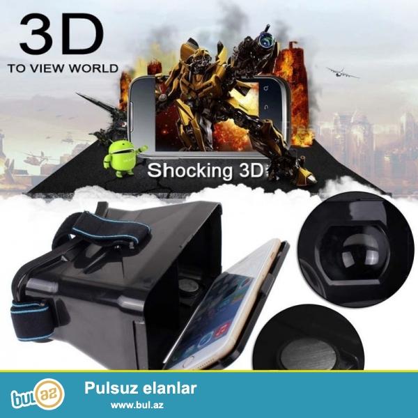 Yeni.Çatdırılma pulsuz<br /> Bütün model telefonlar üçün Universal Virtual VR GOOGLE 3D Eynək İBLU bütün model telefonlar üçün<br /> Xüsusiyyətləri:<br /> <br />     Bu mehsulun maqnetik hissələri var...