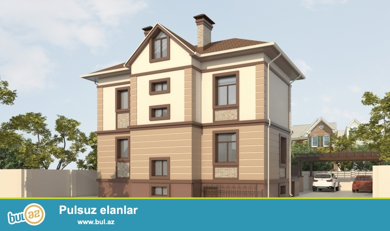 Dübəndi bağlarinda 5 sot ərazidə 2 mərtəbəli+ yaşayışlı yarımzirzəmi mərtəbəsi olan bağ evi satılır...