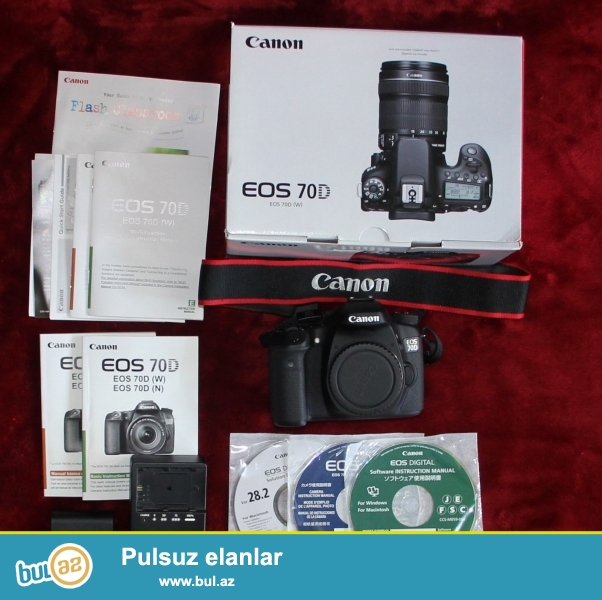 Promo! Promo !! Promo !!!<br /> <br /> 5 dənə 2 pulsuz almaq Almaq !!<br /> <br /> Canon EOS 70D WhatsApp: +447452264959<br /> <br /> Canon EOS 70D Digital Camera bədən<br /> LP-E6 oluna Lithium-Ion Battery Pack (7...
