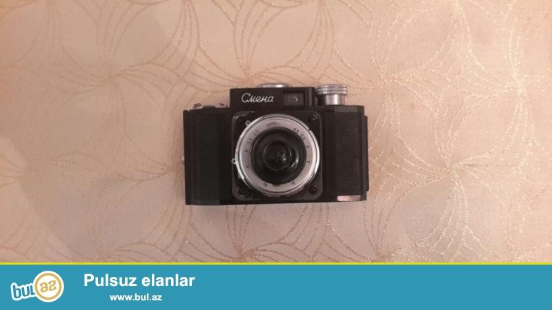 Antikvar Smena fotoaparati satilir.SSSRI istehsali Ilk modeldir...