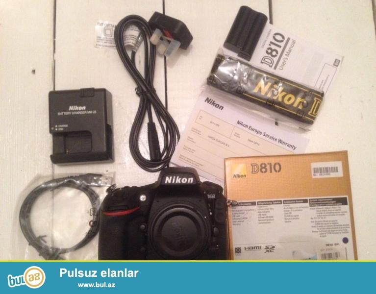 Promo! Promo !! Promo !!!<br /> <br /> 5 dənə 2 pulsuz almaq al!<br /> <br /> <br /> Brand Nikon<br /> Model D810<br /> MPN 1542<br /> <br /> Əsas Xüsusiyyətlər<br /> Camera növü Digital SLR<br /> Sensor Resolution 36...