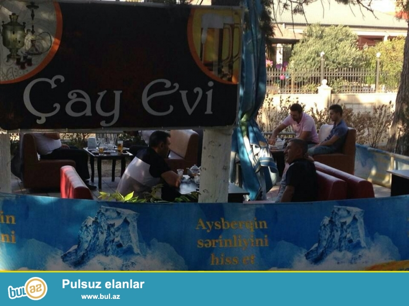 Seherin merkezinde, Sehriyar parkinda yay sezonu Cayxana ve Cay Evi icareye verirem...
