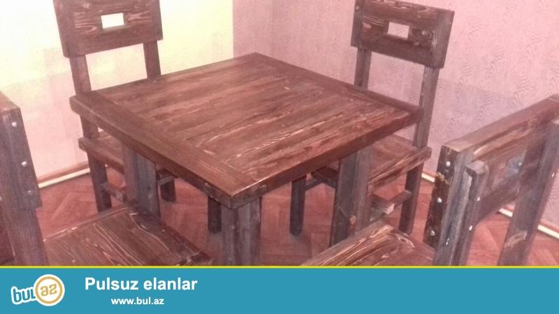 Stol stul satilir.<br /> 10eded Qabaq stolu, 20 eded oturacaq...