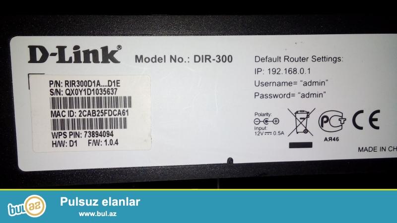 D-LINK modem satiram.Islenmisdir. 4 portludur. Qiymeti 15 azn<br /> maraqlanan  varsa  watsapa yazsin<br />