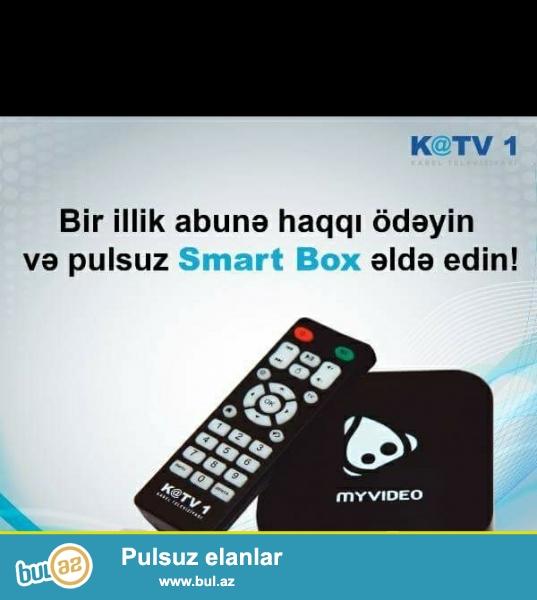 Salam! KATV1 Smart cihazı vasitəsilə 200 televiziya kanalını izləyə bilərsiz.<br /> Bundan əlavə youtube,skipe,facebook,instaqram kimi şəbəkələrdən istifadə edə bilərsiz...