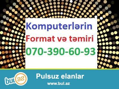 Ideal Komputer formatı EVLƏRDƏ VƏ OFİSLƏRDƏ   15 MANAT...