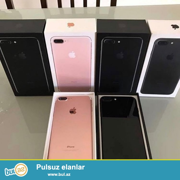 Iphone 7 plus pakofkada  satilir, Dubay variantidir, rengleri var, 1:1 kopya orginaldan ferqi yoxdur...