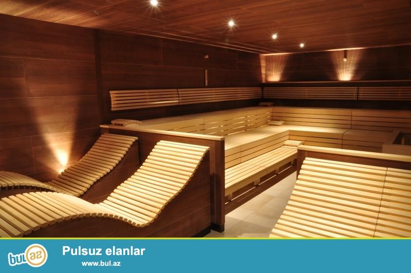 Sifarişlə Fin sauna, buxar otaqı( yaş sauna) və Türk hamamı tikintisi...