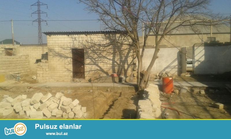 Maştağa Buzovna yolunda əsas  yoldan 400 mt məsafədə  3 sot torpaq sahəsində  qoşa daşlı kürsülü ümumi sahəsi 100 kv mt olan 3 otaqlı ev satılır...