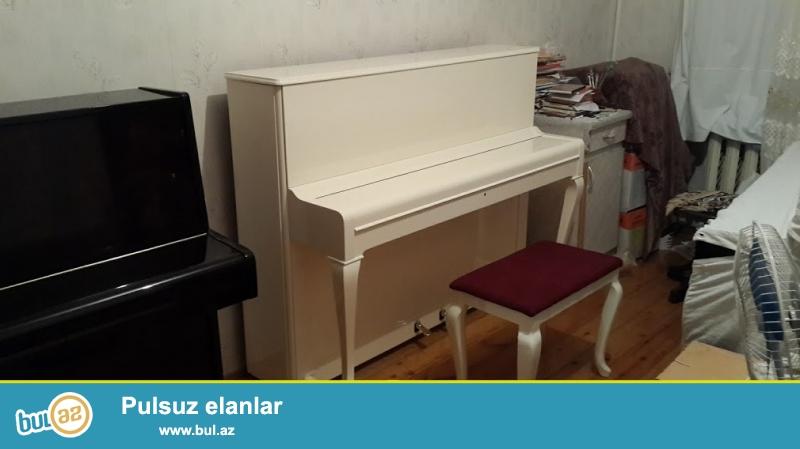 Cexiya istehsalı əla vıziyətdə figurnı ayaglı Petrof pianinosu və ag royal...