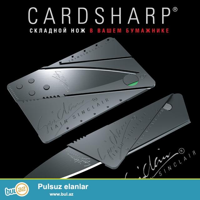 Cardsharp-ın kredit kartı şəklində cib bıçağı...