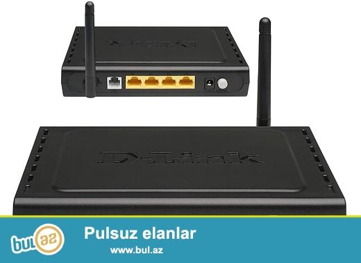 Model: 2640U\r\n1 Antenn\r\n4 Lan Port\r\n150 MB Wireless\r\nYaxshi veziyyetdedir, Adaptoru, Spliteri, Kabelleri butun aksesuarlari yerindedir, son qiymetdir...