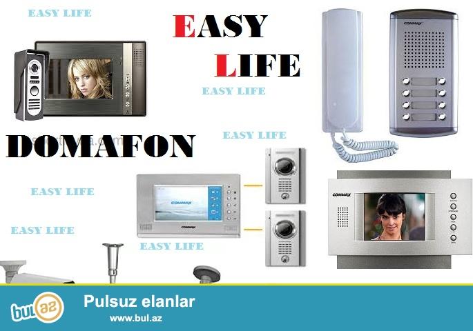 Domafon sistemleri; EASY LIFE sirketi size en son modelde domafon sistemlerini teklif edir...