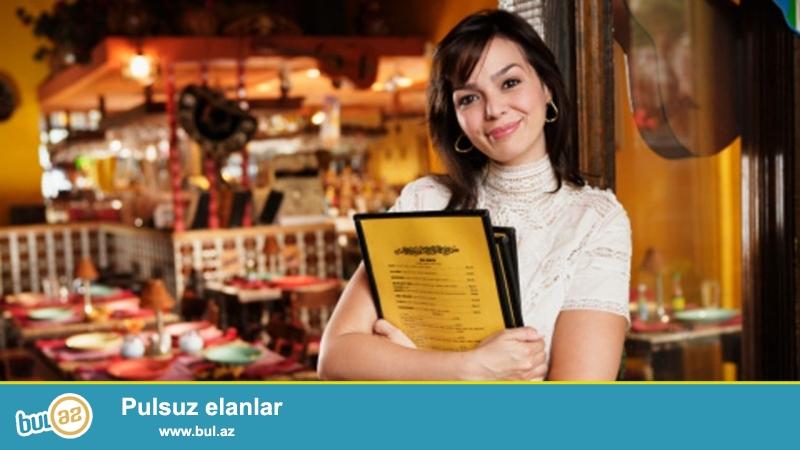 Tecili Restorana Hostes xanimlar teleb olunur<br /> is saati qrafikle<br /> maas 550-700 azn<br /> telebler rus-dili,<br /> tel 055-342 -91-60 Gul xanim