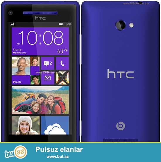 Htc X8 ,Windows phone.16Gb daxili yaddasDual-core 1...
