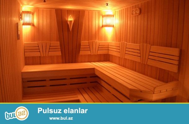 Sifarişlə Sauna tikinti. Fin sauna, buxar otağı, rus banyosu və türk hamamı tikintisi, təmiri və s...