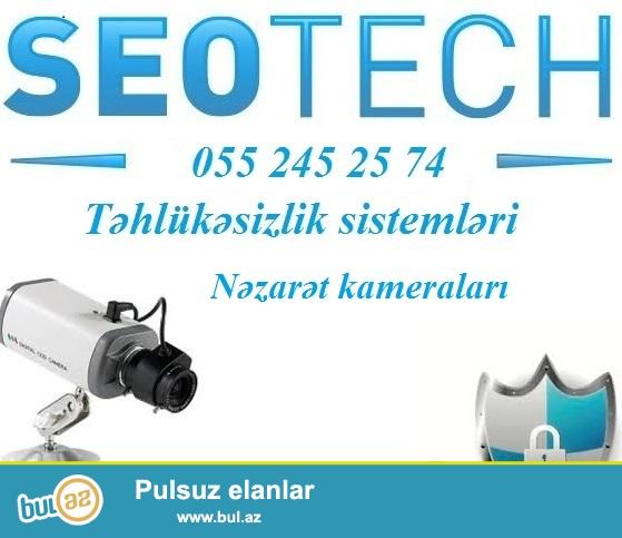 Nezaret ve guvenlik – kameralar, turniket, slaqbaumlar, biometrika, siqnalizasiya, domofon, metaldetektor ve s...