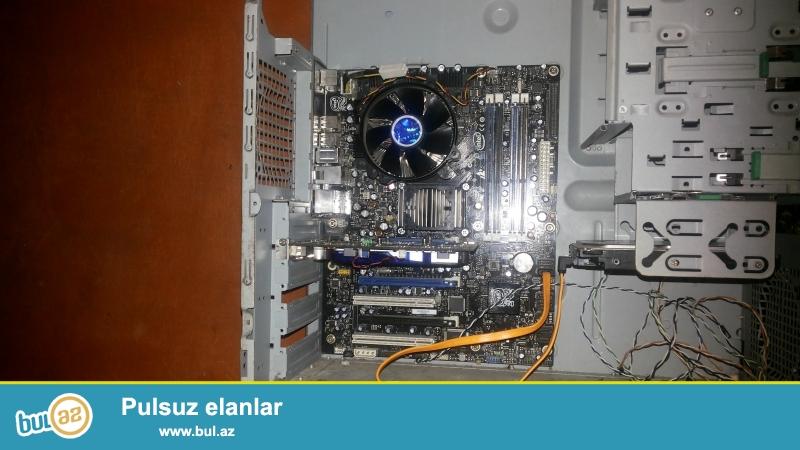 Full  Intel DDR3 Ana plata 4 ram slotu 32 gb ram destekleyir 3 vidio karta Slotu  6 soyducu kuler yeri usdunde Quad dula core 2  2 gb ram 1 gb vidio carta 160 gb HDD