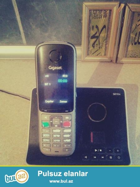 Gigaset ev teleefonu satilir telefonda bluetooth budulnik mesaj ayarlari var telefon nomre yazan ve s...